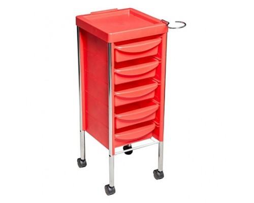 Парикмахерская тележка 6003 красная